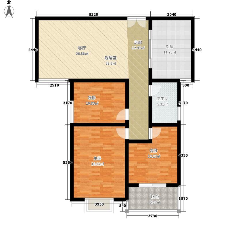 万瑞凤凰城128.00㎡3室2厅1卫