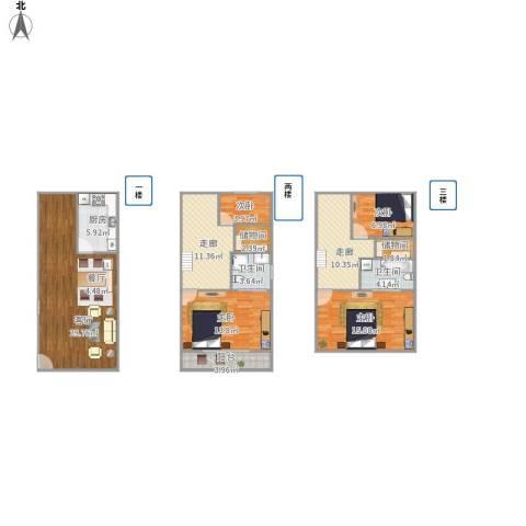 锦秋花园别墅4室1厅2卫1厨153.00㎡户型图