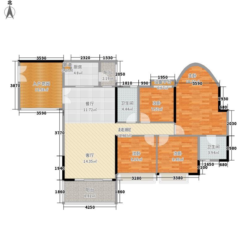 佳大银湾136.33㎡A4栋02单位面积13633m户型