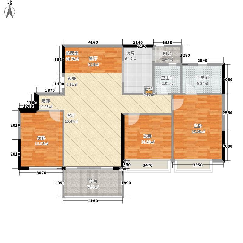 佳大银湾111.96㎡A3栋03单位面积11196m户型