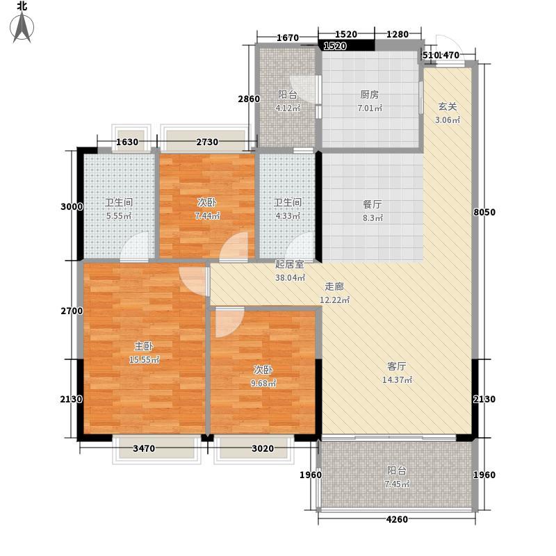 佳大银湾113.53㎡A4栋04单位面积11353m户型