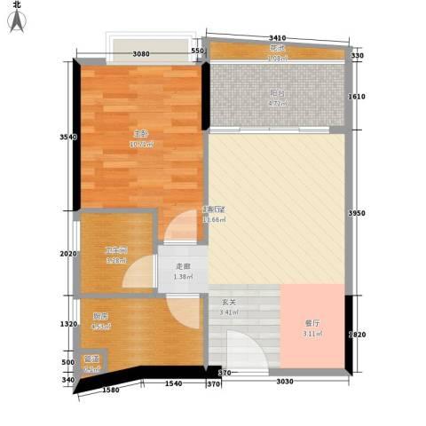 佳大银湾1室0厅1卫1厨50.00㎡户型图