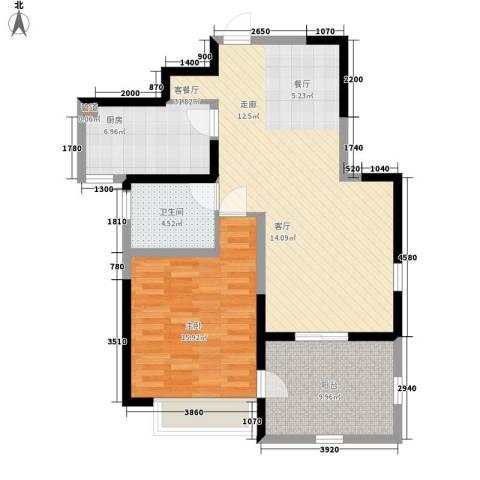 华辰丽景1室1厅1卫1厨79.00㎡户型图