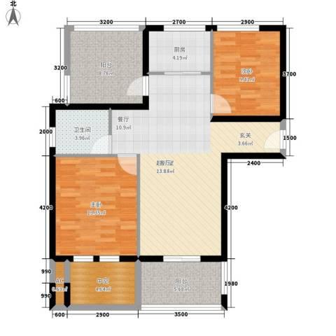 汇景东方花园2室0厅1卫1厨89.00㎡户型图