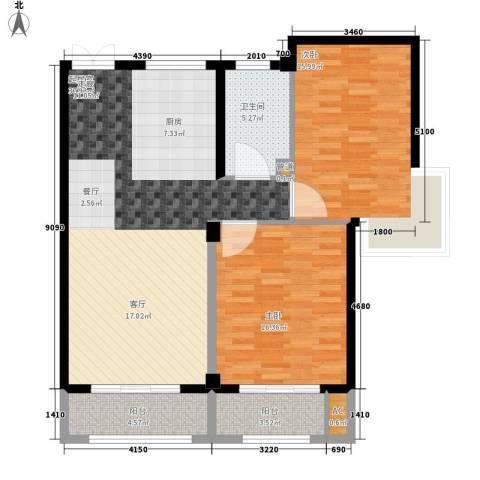 盛大花园2室0厅1卫0厨95.00㎡户型图