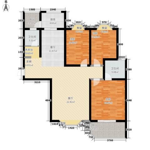上城公馆3室0厅2卫1厨168.00㎡户型图