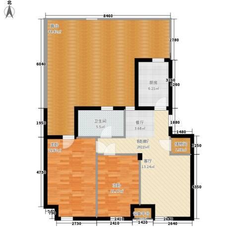 金世纪铭城华庭2室1厅1卫1厨110.41㎡户型图