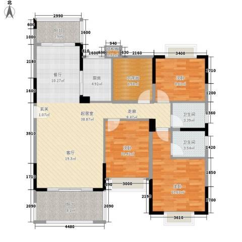 龙凤春晓3室0厅2卫1厨145.00㎡户型图