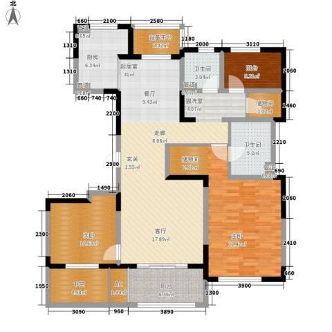 朗诗绿色街区2室0厅2卫1厨130.00㎡户型图