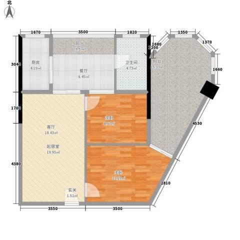 君悦春江花园2室0厅1卫1厨83.00㎡户型图