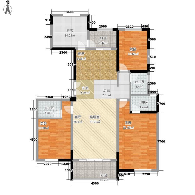 保利拉菲公馆168.00㎡保利・拉菲公馆5#楼F户型