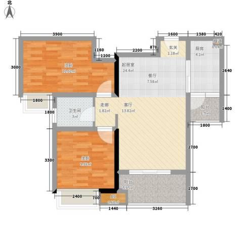 阳光・西雅图2室0厅1卫1厨89.00㎡户型图