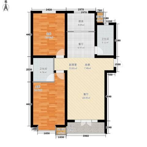 奥林花园2室0厅2卫1厨108.00㎡户型图