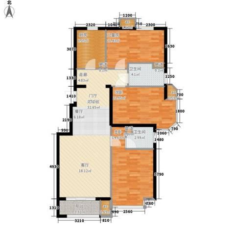 建国小区3室0厅2卫1厨127.00㎡户型图
