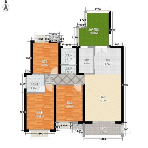 佳阳悦景馨都3室1厅2卫1厨142.00㎡户型图
