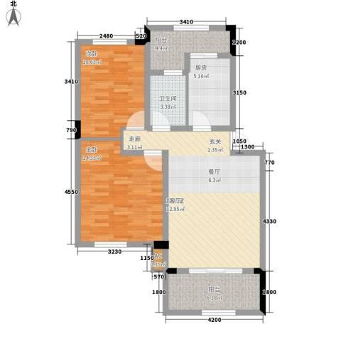 岷山拾阶公馆(三期)2室0厅1卫1厨99.00㎡户型图