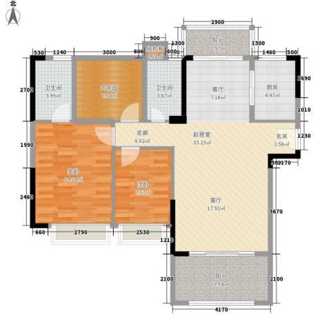 龙凤春晓2室0厅2卫1厨119.00㎡户型图