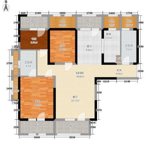 建国小区3室0厅2卫1厨155.00㎡户型图