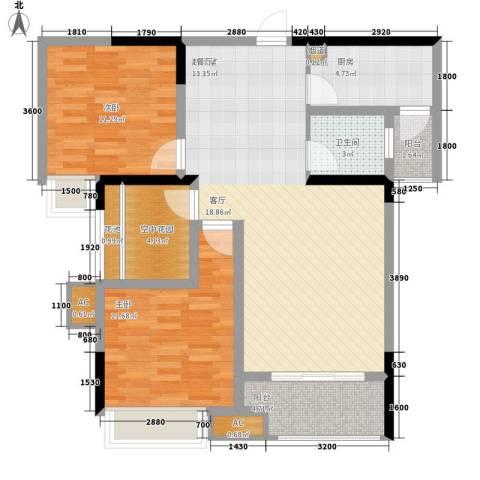 阳光・西雅图2室0厅1卫1厨108.00㎡户型图