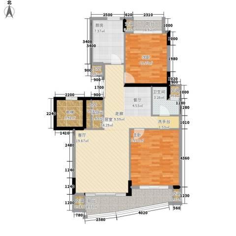 中央花园2室0厅1卫1厨130.00㎡户型图