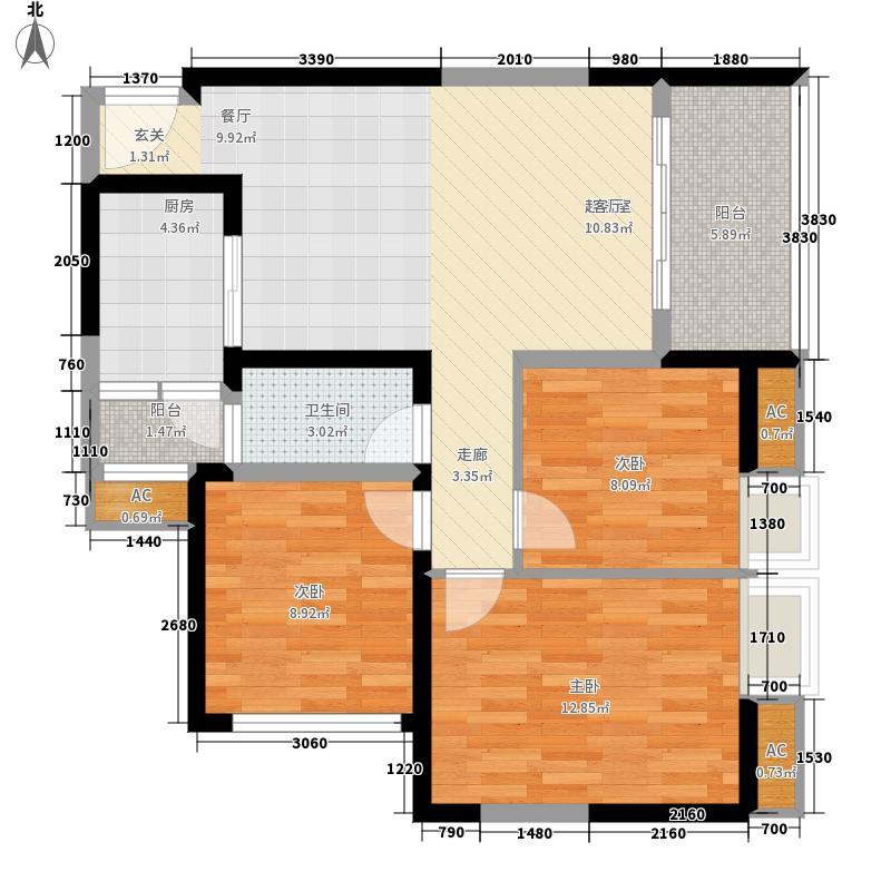 世龙广场91.00㎡3室2厅1卫