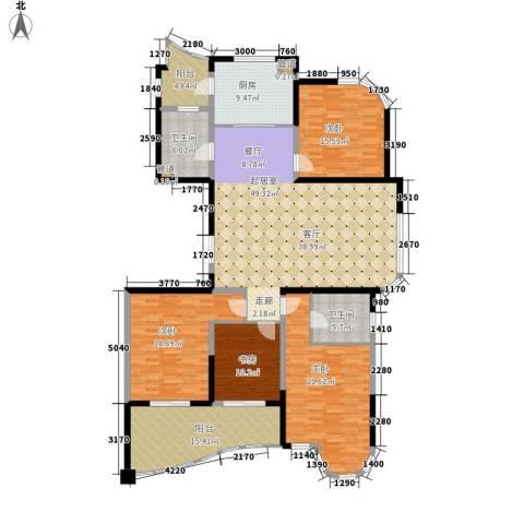 长岛府4室0厅2卫1厨182.00㎡户型图