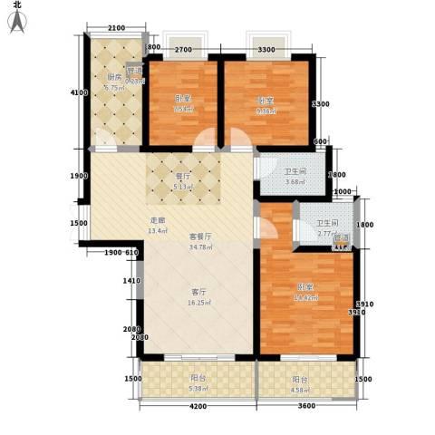 金源皇家园林1厅2卫1厨134.00㎡户型图