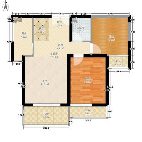 金源皇家园林1厅1卫1厨81.00㎡户型图