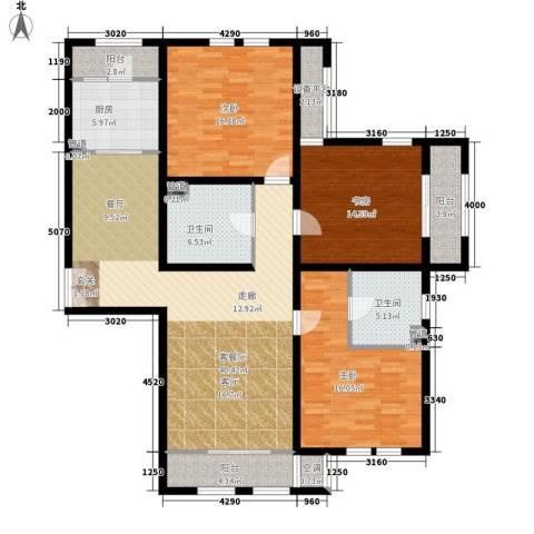 东星・卡纳溪谷3室1厅2卫1厨172.00㎡户型图