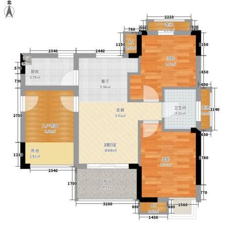 万宁东岸假日2室0厅1卫1厨86.00㎡户型图