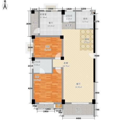 长房西城湾2室0厅2卫1厨247.00㎡户型图