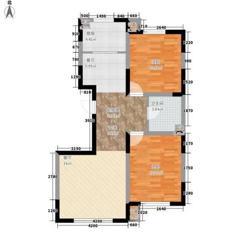 建发滨湖家园2室0厅1卫1厨89.00㎡户型图