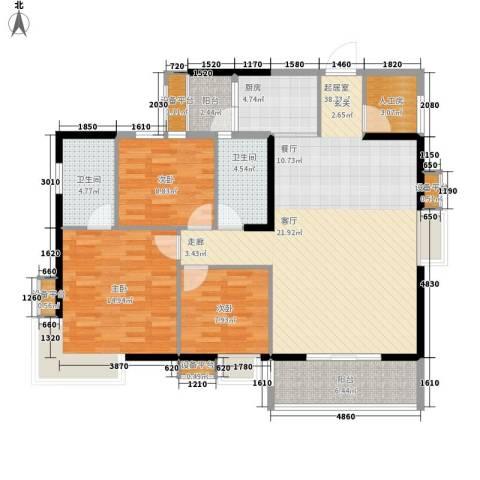 香山花园3室0厅2卫1厨120.00㎡户型图