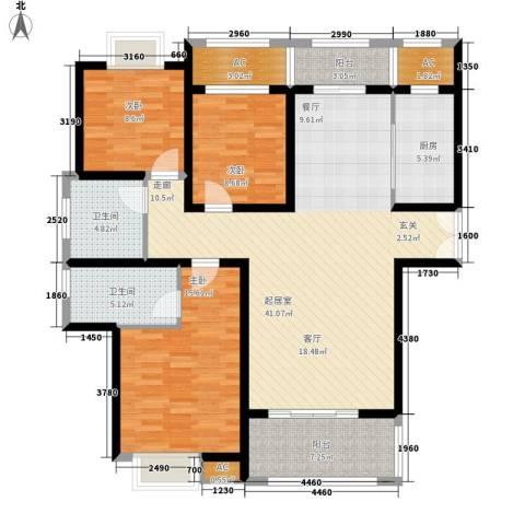 汉鼎瑞和园3室0厅2卫1厨121.00㎡户型图