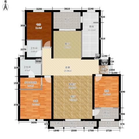 东星・卡纳溪谷3室1厅2卫1厨192.00㎡户型图