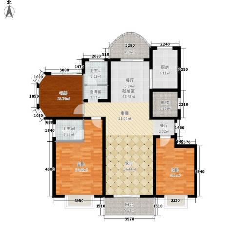新城国际・兰溪谷3室0厅2卫1厨157.00㎡户型图