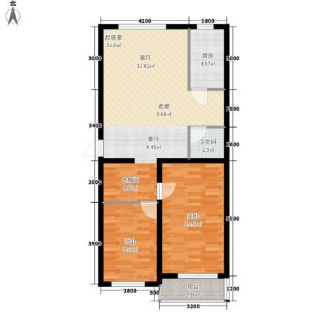 大秦华府2室0厅1卫1厨95.00㎡户型图