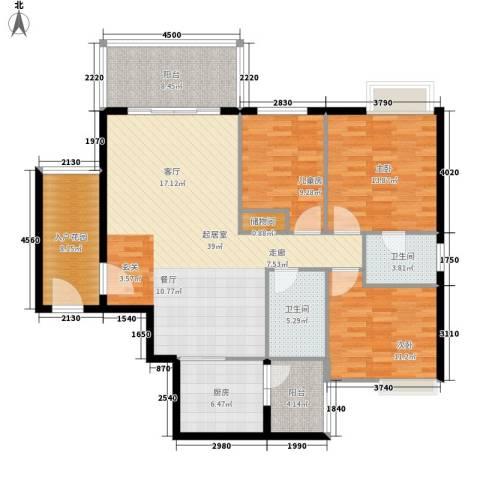 盛世名门3室0厅2卫1厨123.00㎡户型图