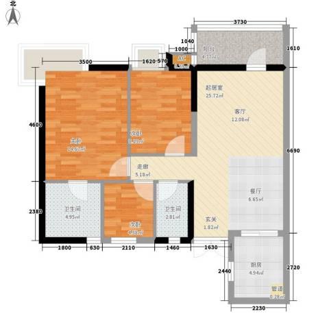 盛世名门3室0厅2卫1厨102.00㎡户型图