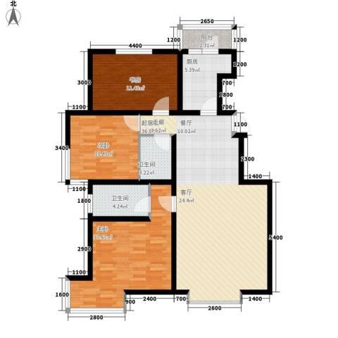 大秦华府3室0厅2卫1厨130.00㎡户型图