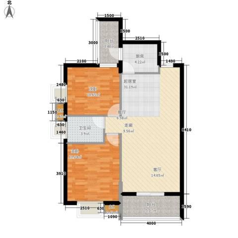 都市馨园2室0厅1卫1厨103.00㎡户型图