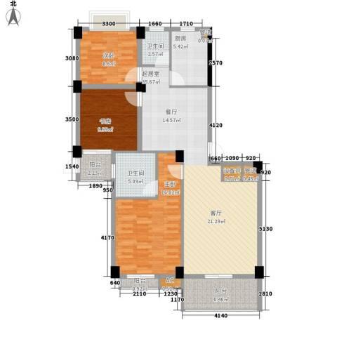 长房西城湾3室0厅2卫1厨137.00㎡户型图