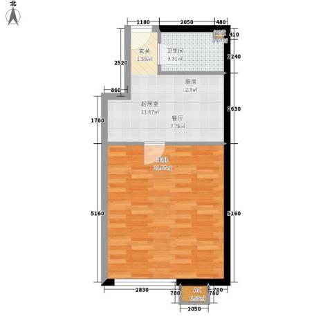 苏锦新村1室0厅1卫0厨41.00㎡户型图