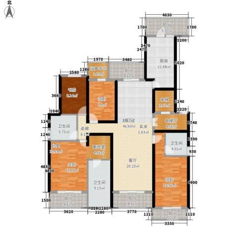 旺座城—海德堡PARK3室0厅3卫1厨178.00㎡户型图