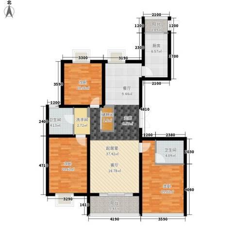 腾远胜景花园3室0厅2卫1厨115.00㎡户型图
