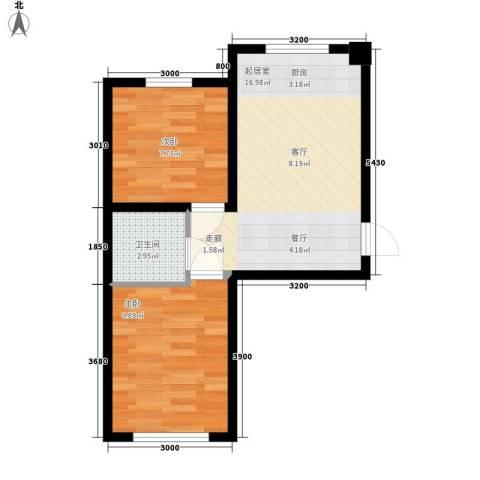五岳溪谷2室0厅1卫0厨54.00㎡户型图