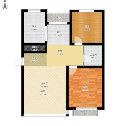 城市之星2室1厅1卫1厨105.00㎡户型图