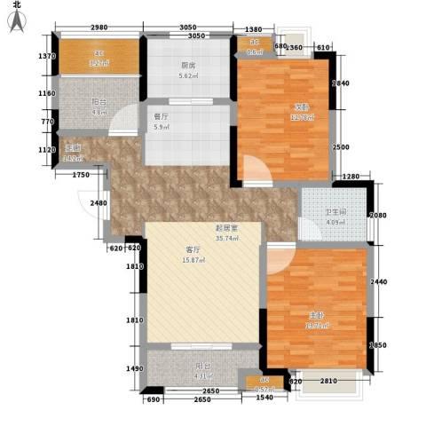 祥源城2室0厅1卫1厨109.00㎡户型图
