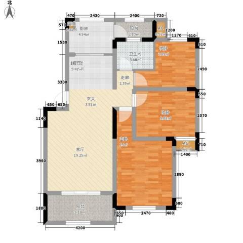 岷山拾阶公馆(三期)3室0厅1卫1厨99.00㎡户型图