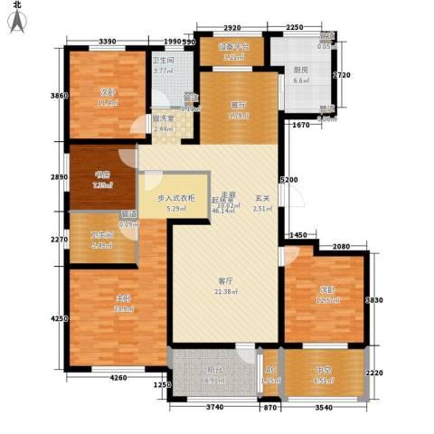 朗诗绿色街区4室0厅2卫1厨155.00㎡户型图